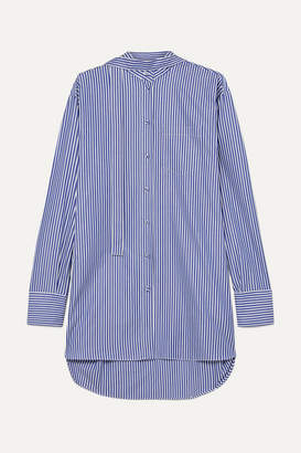 Valentino Oversized Striped Cotton-poplin Shirt