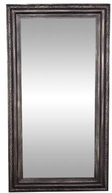 DecMode Decmode Traditional 60 X 32 Inch Black Wood And Metal Rectangular Wall Mirror