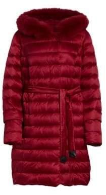 Marina Rinaldi Marina Rinaldi, Plus Size Dolomiti Quilted Fox Fur Jacket