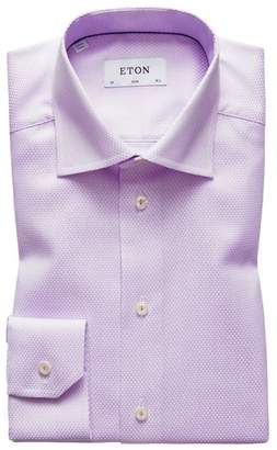 Eton Slim Fit Geometric Print Dress Shirt