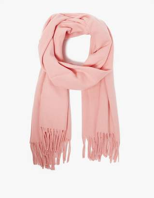 Canada Scarf in Pale Pink $180 thestylecure.com