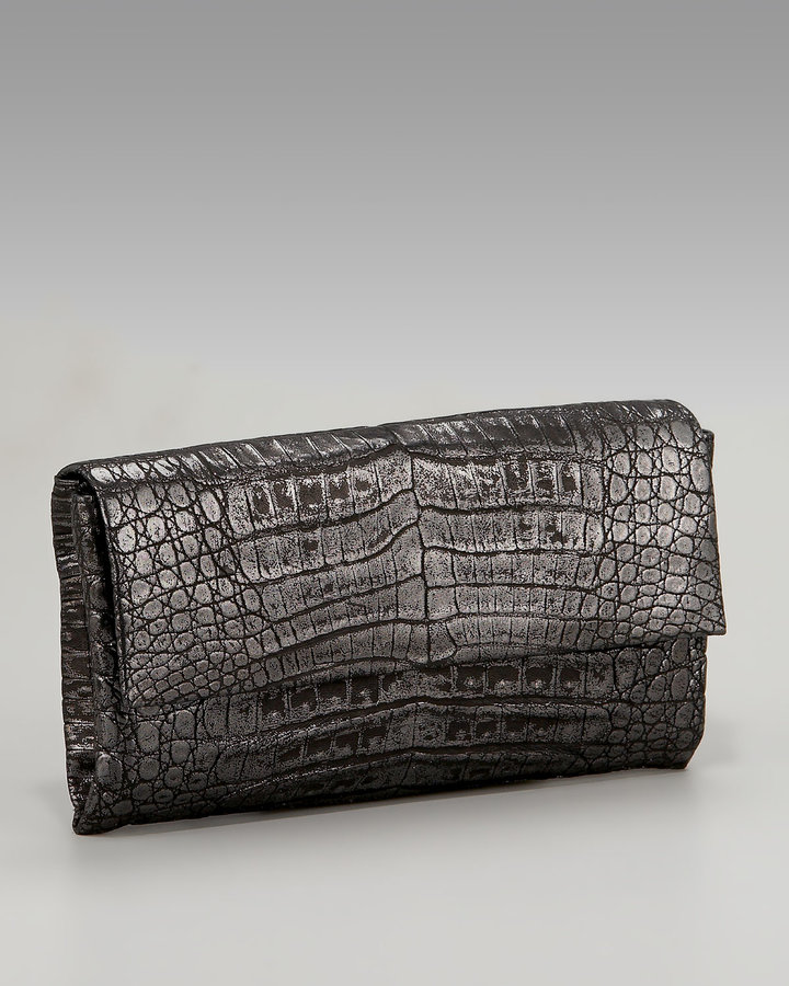 Nancy Gonzalez Glazed Croc Clutch