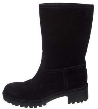 Prada Sport Suede Mid-Calf Boots