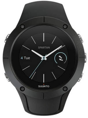 Suunto Spartan Trainer Wrist Hr, Black Black Silicone Band with a Digital Dial