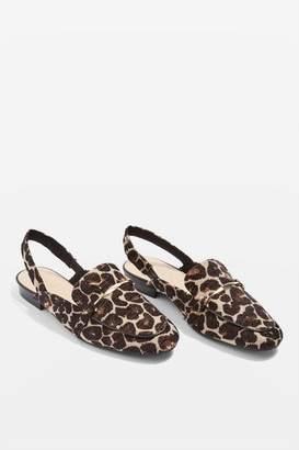 Topshop Lemonade slingback loafers