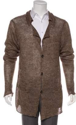 Giuliano Fujiwara Linen Button-Up Cardigan