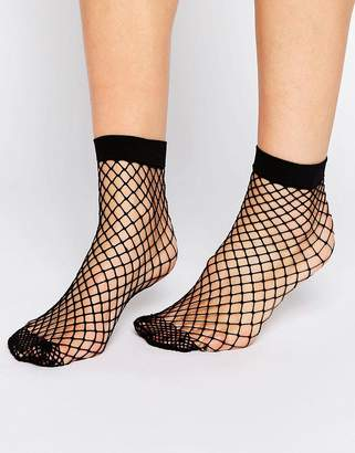 Asos DESIGN oversized fishnet ankle socks