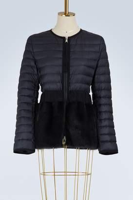 Moncler Hellolite mink fur down jacket