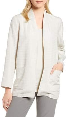 Eileen Fisher Silk Blend Kimono Jacket