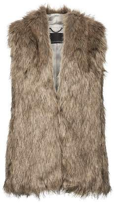 Banana Republic Petite Faux Fur Vest