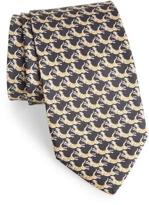Salvatore Ferragamo Figre Print Silk Tie
