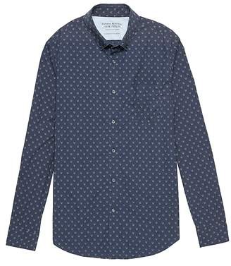 Banana Republic Camden Standard-Fit Luxe Poplin Fox Print Shirt