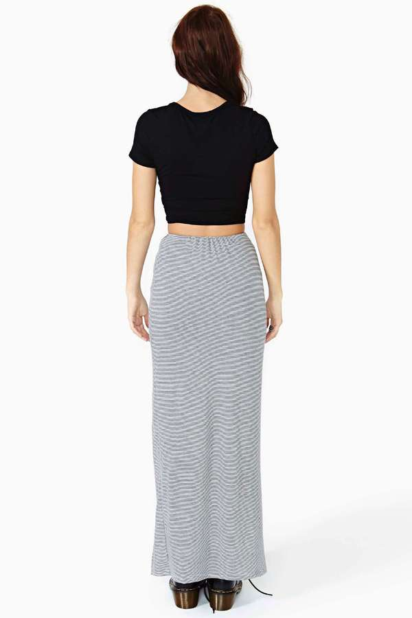 Nasty Gal Highway Maxi Skirt - Stripe
