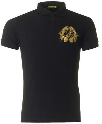 Versace Embroidered Logo Polo