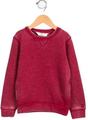 Little Eleven Paris Boys' Distressed Long Sleeve Sweatshirt