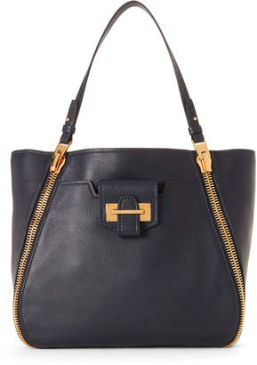 Tom Ford Blue Sapphire Dual Zip Leather Tote