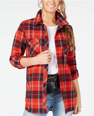 Volcom Juniors' Getting Rad Plaid Cotton Button-Up Shirt