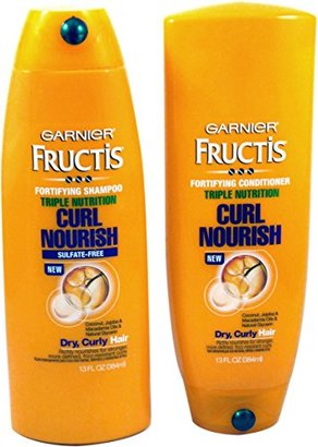 Garnier Fructis Triple Nutrition Curl Nourish Bundle: Shampoo and Conditioner, 13 Fl Oz $15.72 thestylecure.com