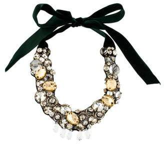 Ranjana Khan Crystal & Velvet Collar Necklace
