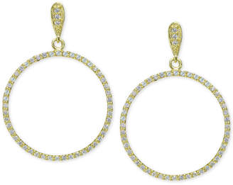Giani Bernini Cubic Zirconia Pave Gypsy Hoop Earrings in 18k Gold-Plated Sterling Silver, Created for Macy's