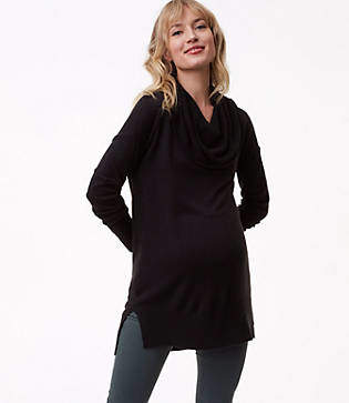 LOFT Maternity Cowlneck Tunic Sweater