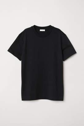 H&M Silk-blend Jersey Top - Black