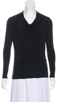 Theory Cowl Long Sleeve Top