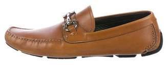 Salvatore Ferragamo Leather Gancini Driving Loafers