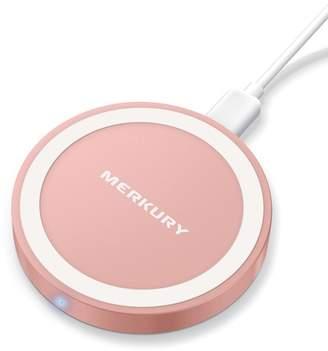 Merkury Innovations Light Pink 5W Round Metallic Wireless Charging Pad