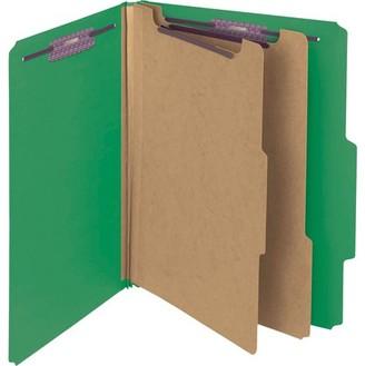 Smead, SMD14201, SafeSHIELD Fastener PressGuard Letter Folders, 10 / Box, Green