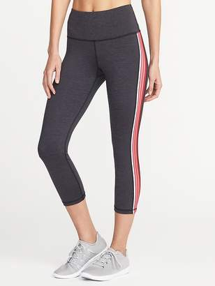 Old Navy High-Rise Side-Stripe Compression Crops for Women