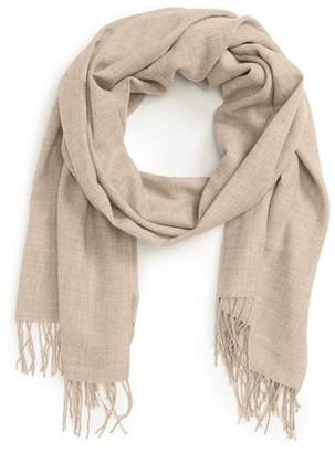 Women's Nordstrom Tissue Weight Wool & Cashmere Scarf $99 thestylecure.com