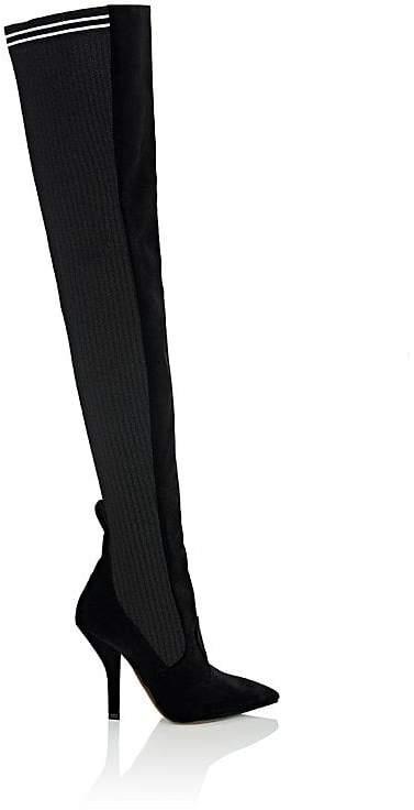 Fendi Women's Rockoko Velvet & Knit Cuissard Boots