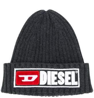 Diesel ribbed knit beanie