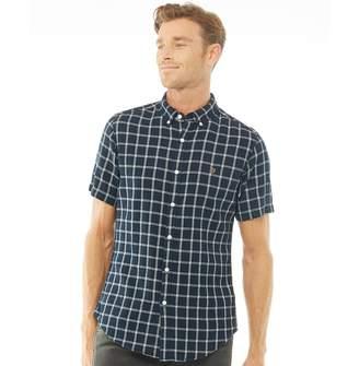 5c656f9cfd0d Farah Mens Johnson Slim Fit Long Sleeve Shirt True Navy