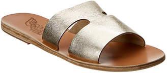 Ancient Greek Sandals Apteros Metallic Leather Sandal