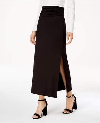 BCX Ruched-Waist Maxi Skirt