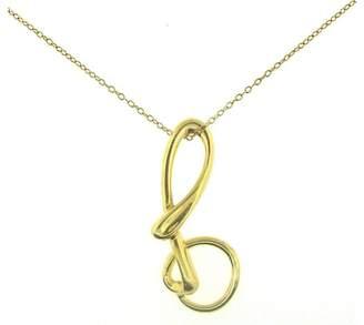 "Tiffany & Co. Elsa Peretti 18K Yellow Gold Infinity Pendant Chain "" B"" Necklace"