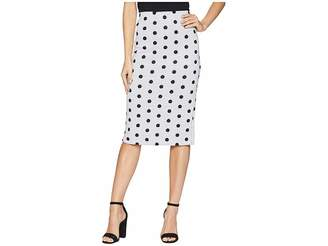 ECI Polka Dot Printed Scuba Skirt Women's Skirt