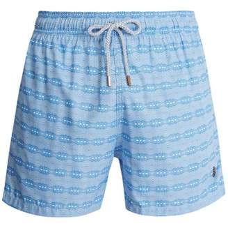 Retromarine - Ball Print Swim Shorts - Mens - Blue