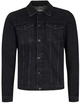 Washed Black Denim Jacket $75 thestylecure.com