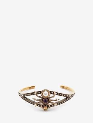 Alexander McQueen Swarovski And Crystal Spider Cuff