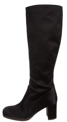 Marni Satin Knee-High Boots Black Satin Knee-High Boots
