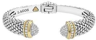 Lagos Caviar Diamond Wrist Cuff
