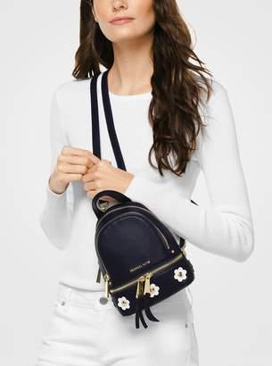MICHAEL Michael Kors Rhea Mini Floral Applique Leather Backpack