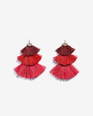 Express Tiered Tassel Drop Earrings
