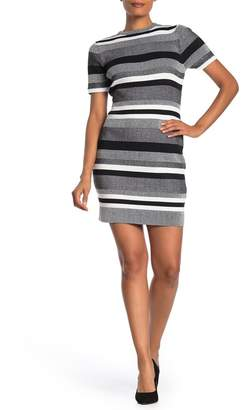 Cotton On Lottie Striped Rib Knit Mini Dress