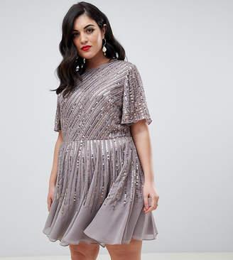 Asos DESIGN Curve embellished smock dress
