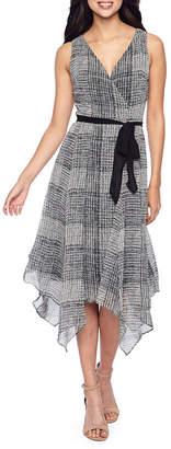 Danny & Nicole Sleeveless Plaid Fit & Flare Dress