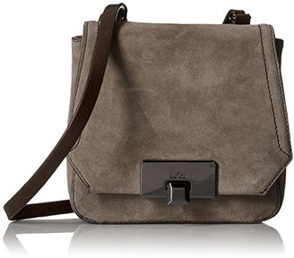Kooba Handbags Filmore Suede Mini Flap Cross Body Bag $198 thestylecure.com
